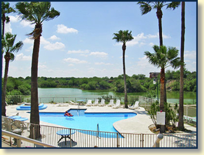 Canyon Lake RV Resort — the Mission, TX RV Park with a Texas-shaped swimming pool!