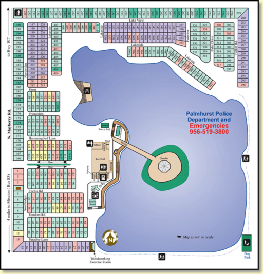 Park Map — View our Rio Grande Valley RV Resort map Canyon Lake Map on